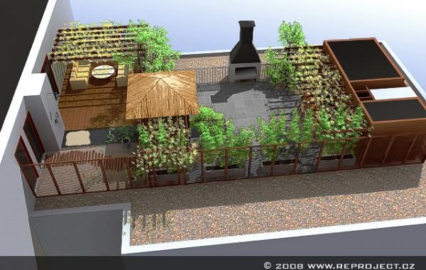 Střešní terasa | Prosek