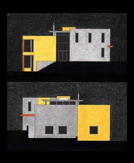 Dům o 4 úrovních, arch. studie