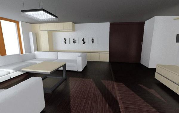 Interiér střešního bytu | Prosek