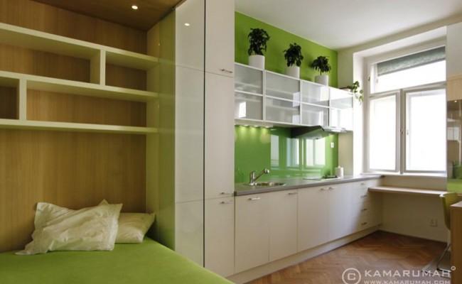 moderní interiér garsoniéry