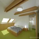 Podkrovní apartmán - ložnice