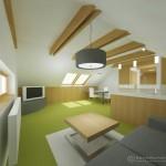 Podkrovní apartmán - obývací pokoj