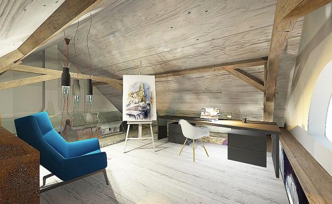 Obývací pokoj na půdě