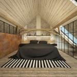 ložnice na půdě