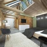 moderní interiér půdy