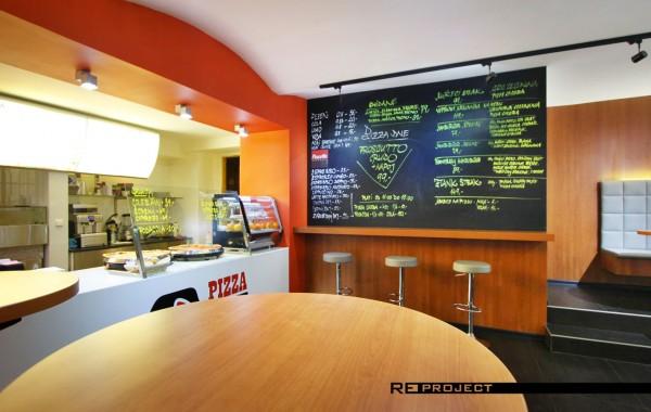 Interiér fastfoodu | Pizza Minute