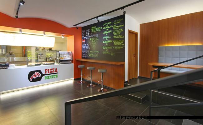 Moderní interiér pizzerie