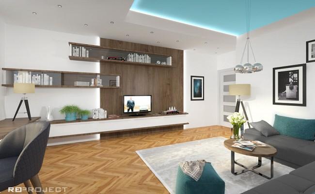 Pohled na obývací stěnu